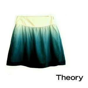 Theory 100% Cotton Ombre A Line Mini Skirt